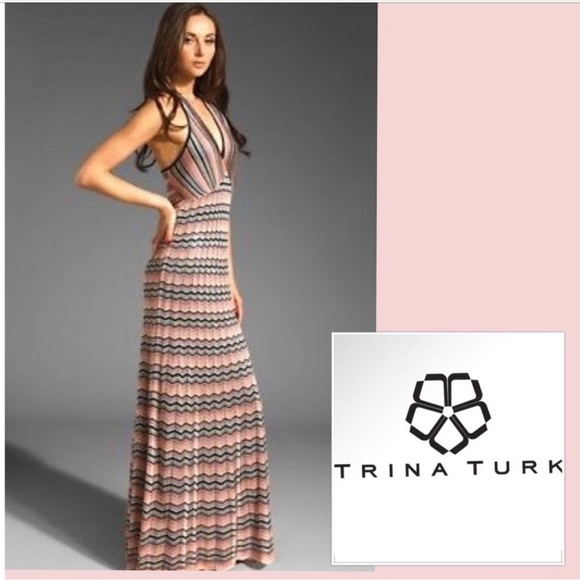Trina Turk Dresses & Skirts - ❌SOLD ❌ Trina Turk Knit Chevron Maxi Dress